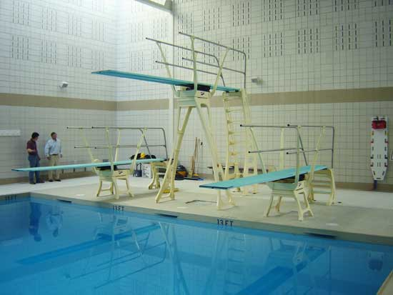 Duraflex three meter diving stand for Swimming pool diving board paint kit