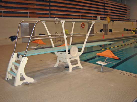 Duraflex One Meter Diving Stand With Double Guardrails