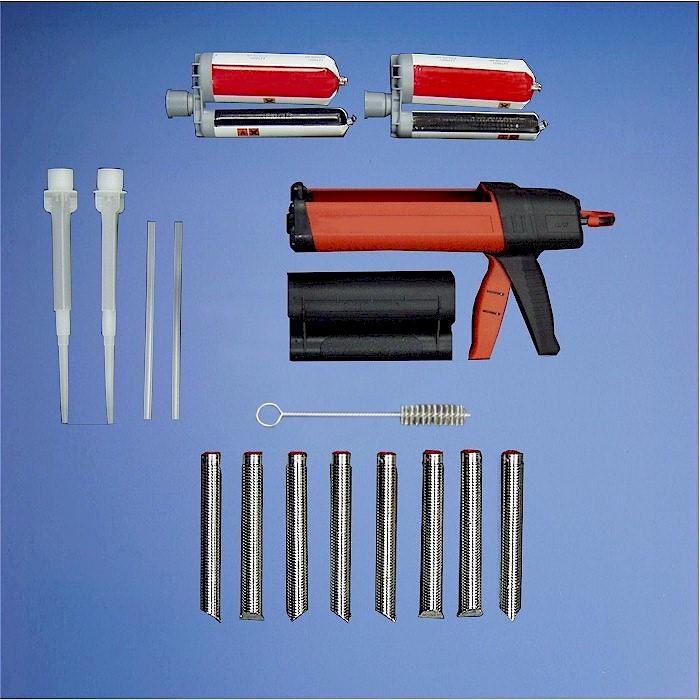 Hilti Concrete Inserts, Epoxy And Applicator Gun
