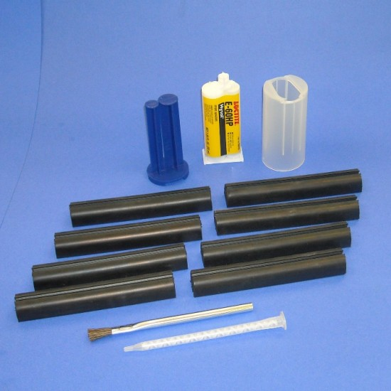 Duraflex 6 Inch Rubber Channel Set with Glue Kit