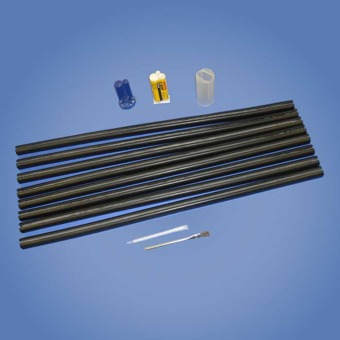 Duraflex 30-inch Rubber Channel Set With Glue Kit