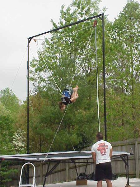 Trampoline Spotting Rig – Folding Trampoline