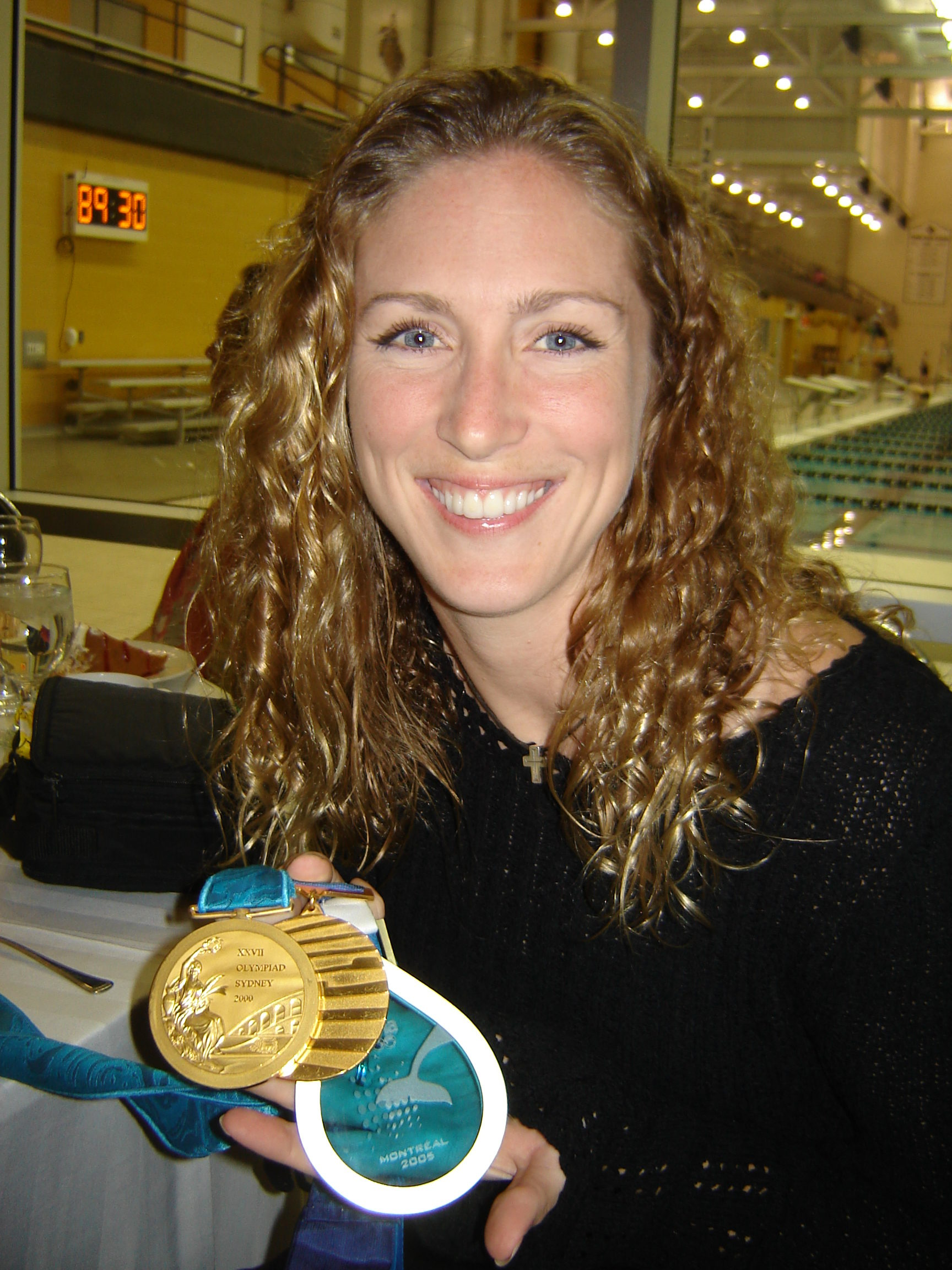 Laura Wilkinson and her 3 Gold Medals